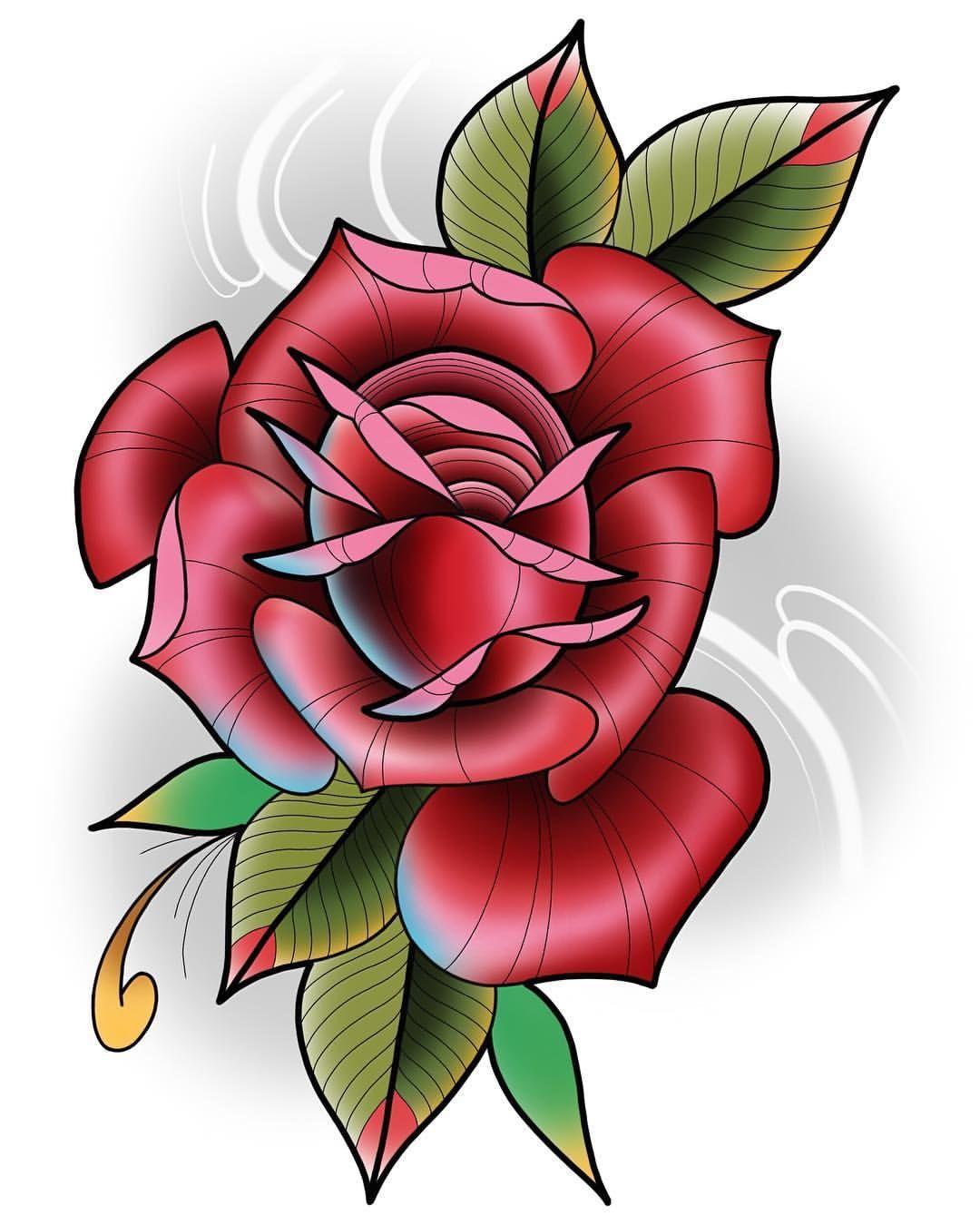Neotraditional rose by darin blank instagram darinblanktattoos my artwork pinterest - Dessin de rose ...