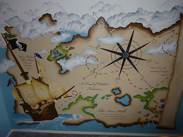 The coolest pirate mural ever i 39 m lucky enough to have - Piratenzimmer wandgestaltung ...
