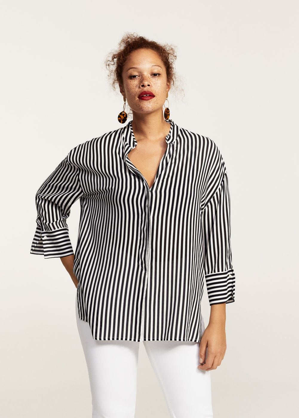 b480fe62191 Flowy striped blouse - Shirts Plus sizes