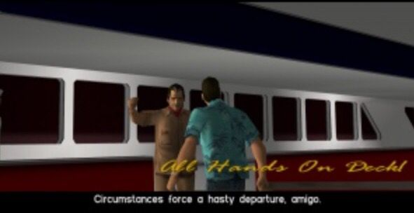 All Hands On Deck mission GTA Vice City. The last Colonel Cortez mission, where he gives Tommy a speedboat and asks him to look after Mercedes