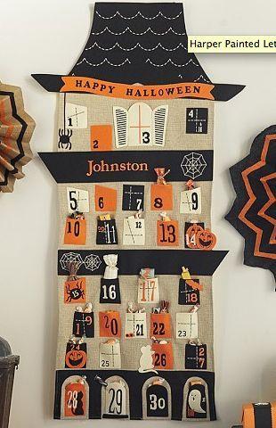 Haunted Halloween Countdown Calendar Halloween Advent Halloween Advent Calendar Halloween Countdown