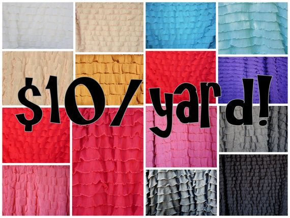 Pre-order sale for ruffle fabric.  Lots of colors.  Must order by Dec 17.  Only $10/yard! by ashleyNEF on Etsy