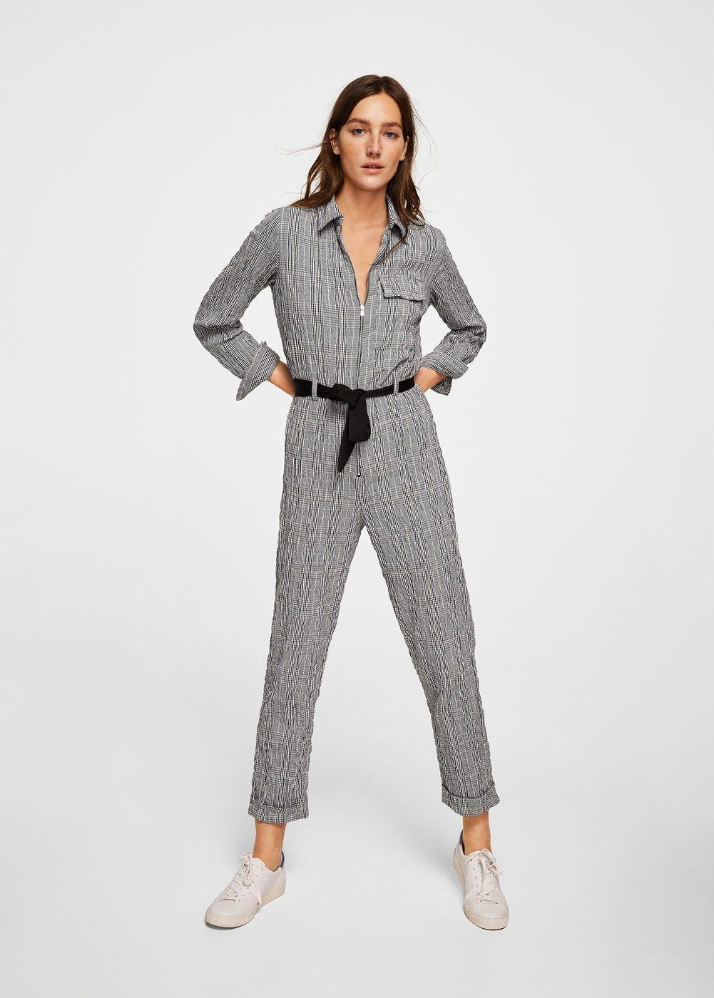 Combinaison à carreaux coton - Femme ba891c72f67