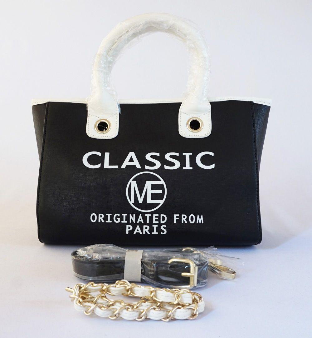 Tas Classic Me Paris Fashion Ada 2 Tali Tenteng Rantai Dan Kulit Korea Elegan
