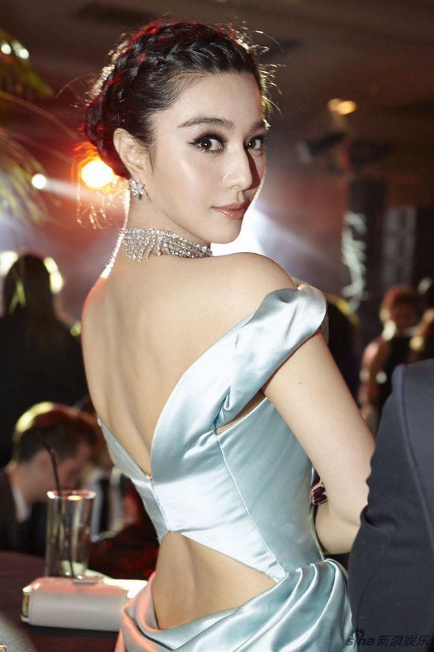 Fan Bingbing wearing light blue Ulyana Sergeenko gown at the Trophée Chopard party at Cannes 2013
