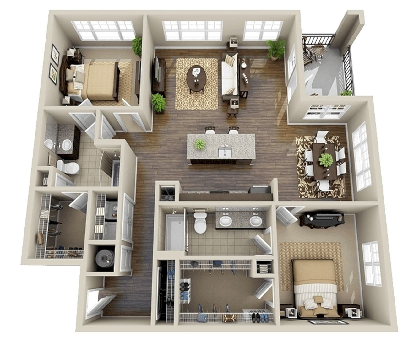 Well Designed 3D House Plan Design Ideas