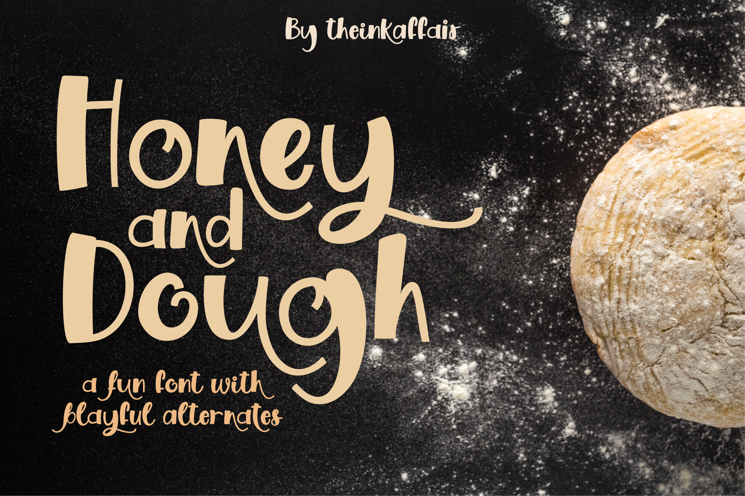 Honey and Dough, a playful font Cool fonts, Lowercase a