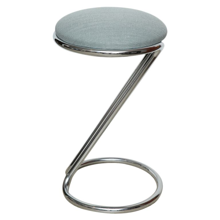 Z Chrome Counter Bar Stool By Gilbert Rohde For Troy Sunshade