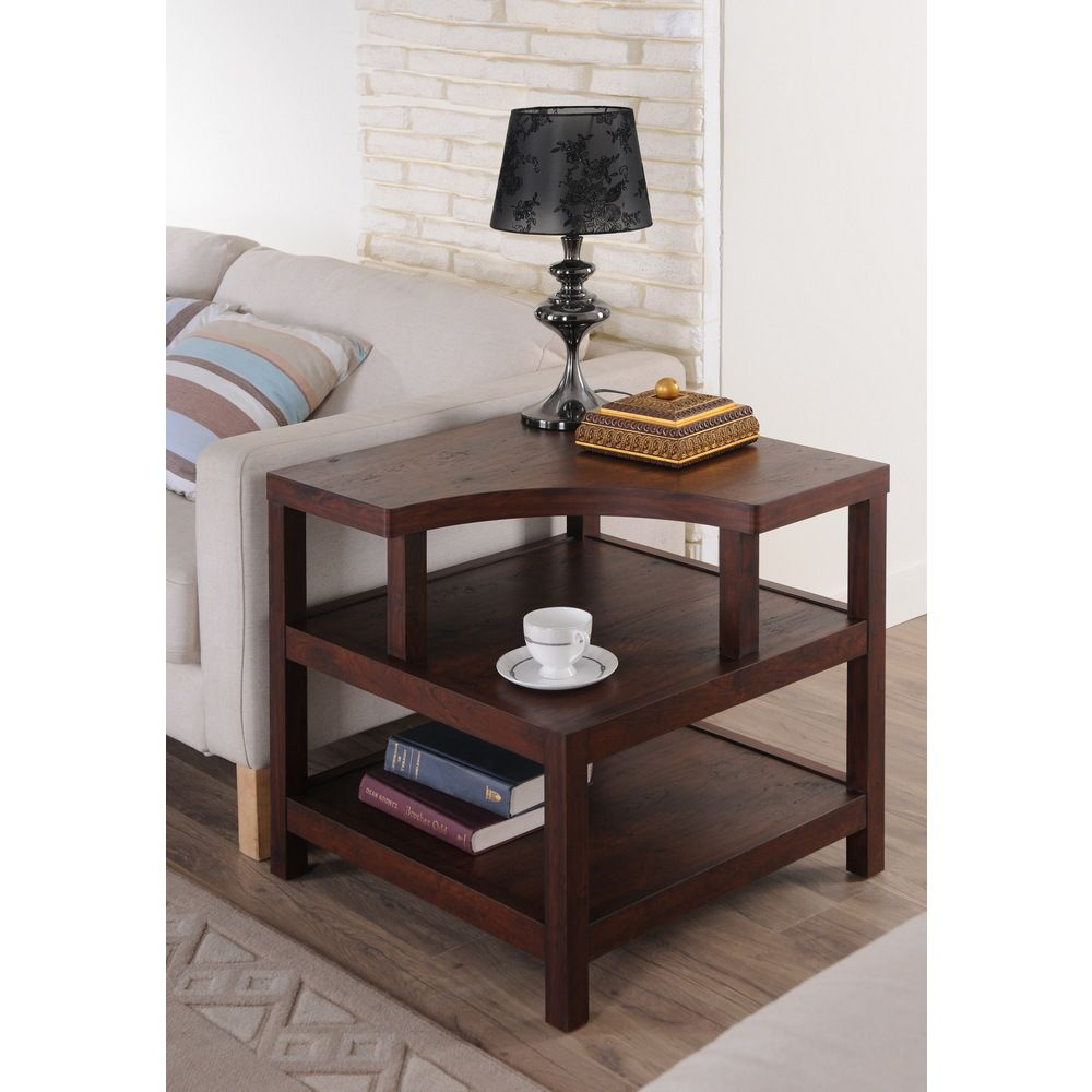 Small Coffee Tables Home Bargains: Furniture Of America Valencia Open Shelf Vintage Walnut