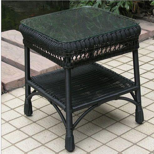 Wicker Lane Offers Black Wicker End Tables Wicker Furniture