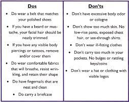 image result for interview dress code dos and donts - Good And Bad For Interviews Tips Interview Dos And Donts