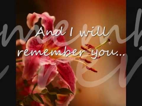 I Will Remember You Sarah Mclachlan Lyrics Dedicated To
