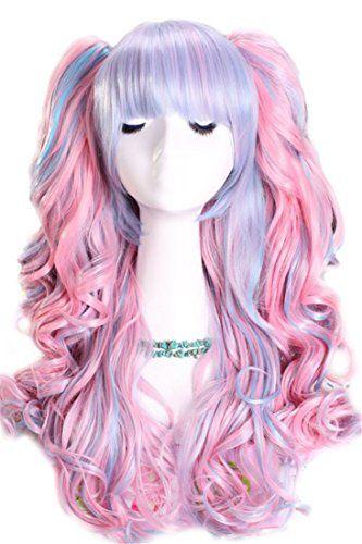 Nouqi® Womens Lolita Blend Blue Pink Curly Wave Cosplay Wig Nuoqi http://www.amazon.com/dp/B00QA1CVOG/ref=cm_sw_r_pi_dp_fxkEwb0GQZMWX