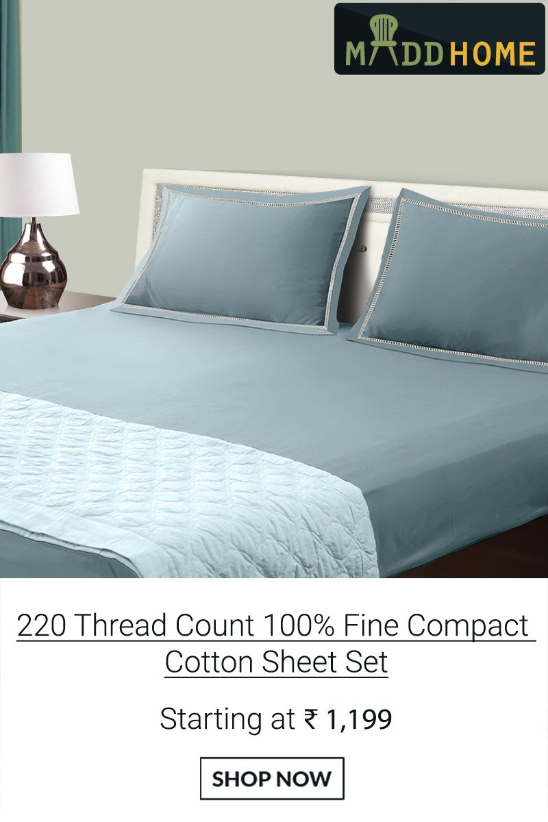 thread count fine compact cotton solid sheet set
