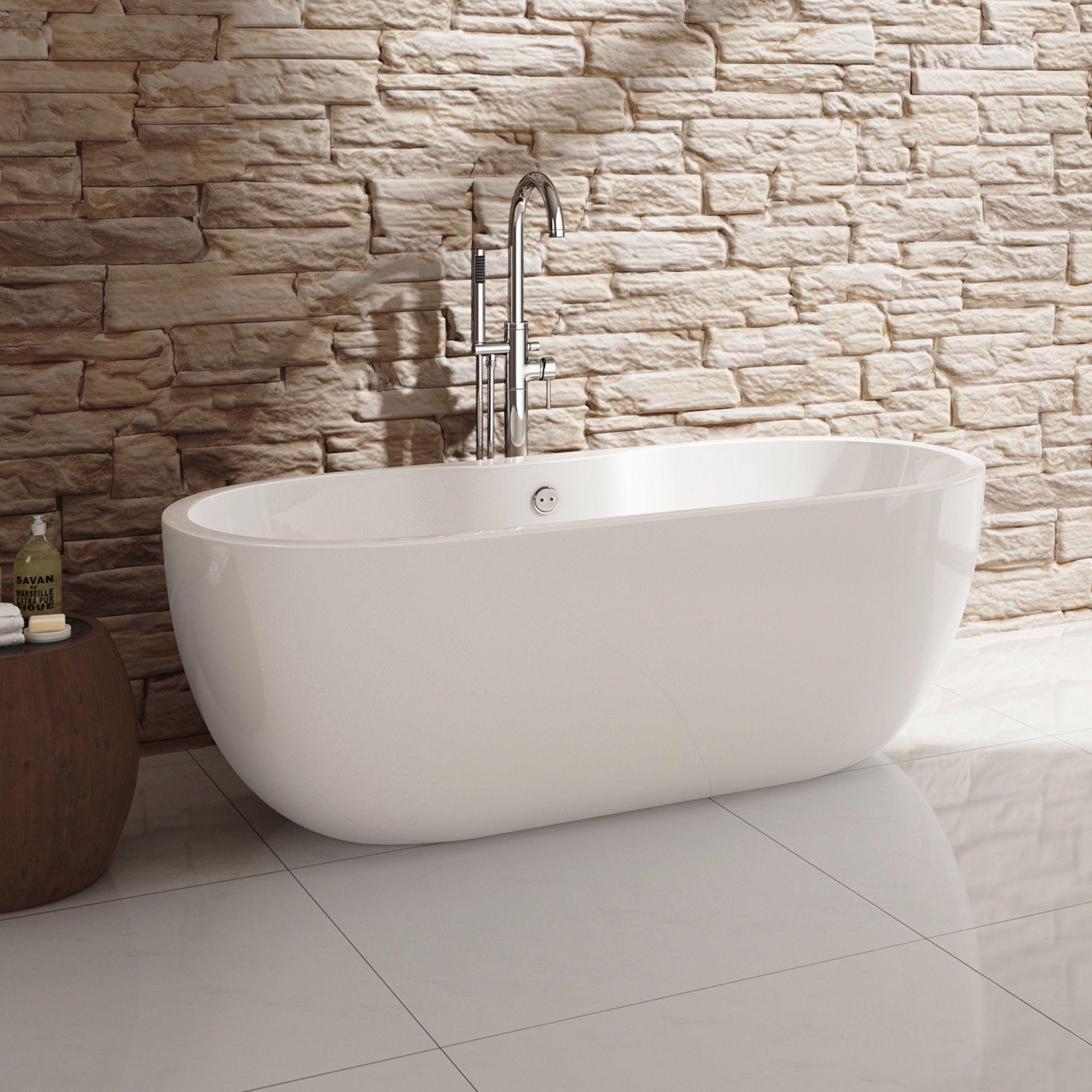1555mmx745mm Melissa Freestanding Bath Modern Bathroom Design