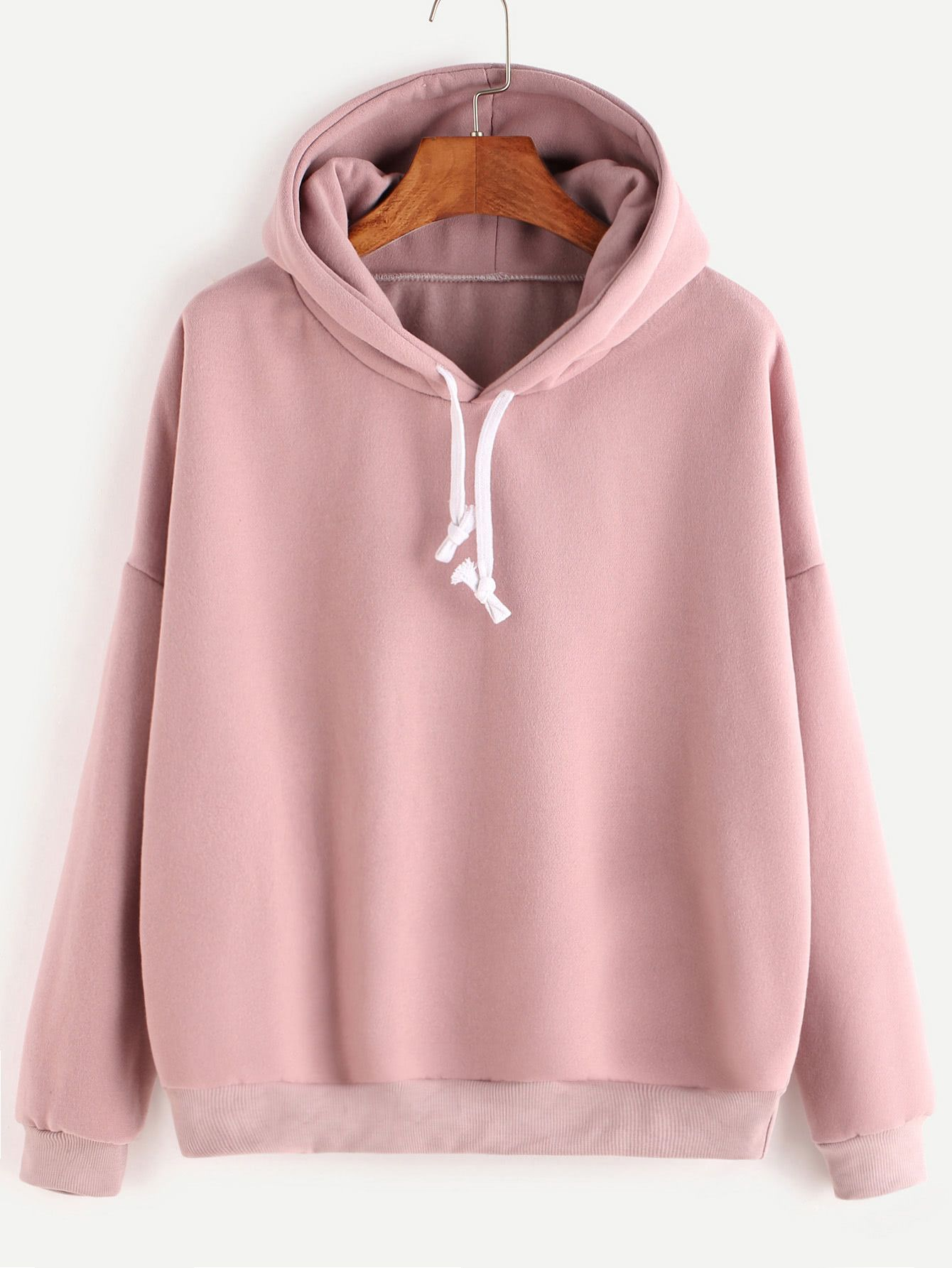 3a440460d9fd Shop Hooded Drop Shoulder Sweatshirt online. SheIn offers Hooded Drop  Shoulder Sweatshirt   more to fit your fashionable needs.