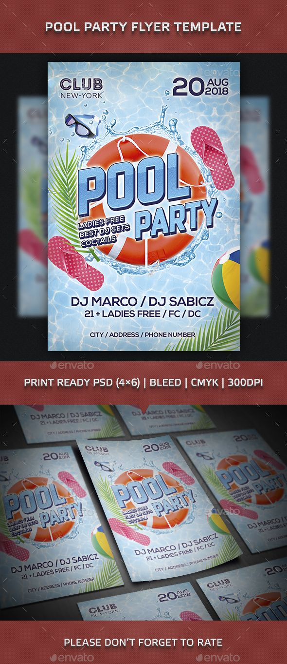pool party flyer template psd download here https graphicriver