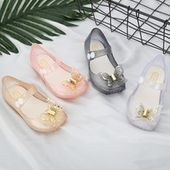 Cute Butterfly Kids Shoes Children Jelly Sandals for Girls Soft Bottom Princess Girl Party Shcolorful