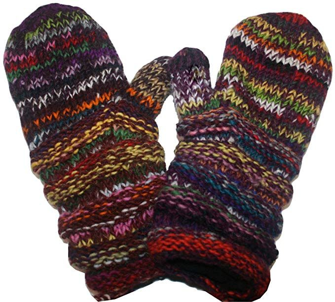887cb6f5984 1417 Agan Traders Knit Wool Mismatched Mitten OR Hat Review ...