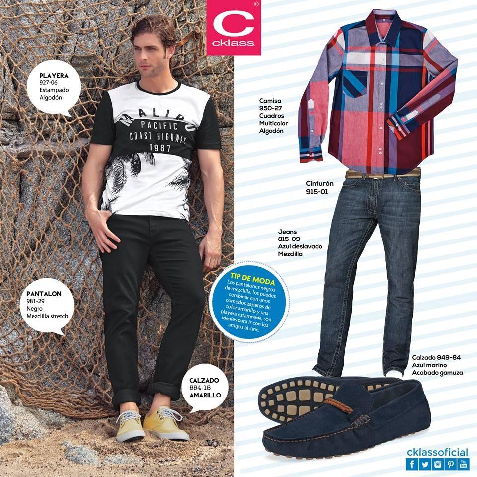 Los pantalones negros ajustados, es una de las tendencias para hombre este verano.  Encuentra los perfectos en www.cklass.com