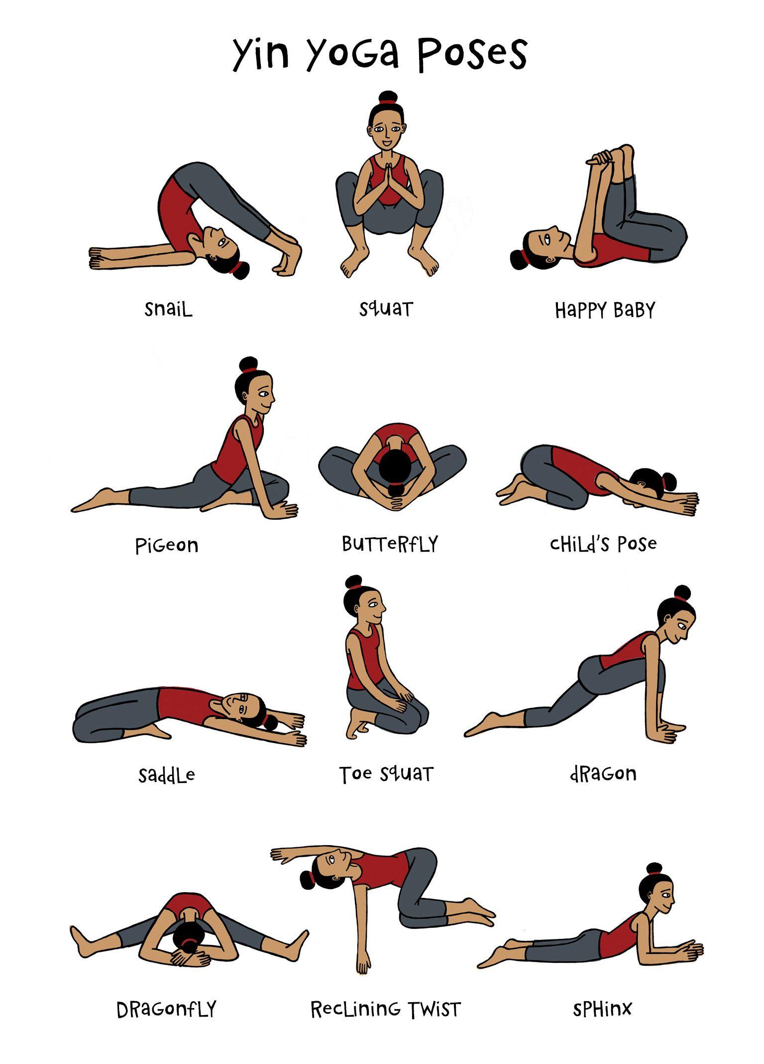Basic Yoga Poses Printable Chart