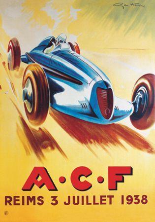 ACF Reims Juillet Poster Automotive Cars Pinterest - Sports cars posters