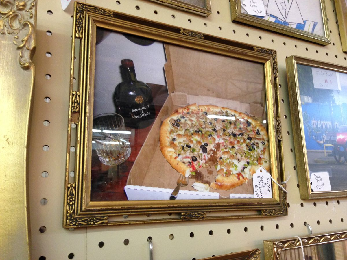 Birthday Dinner Scotch & Pizza. Digital print signed by Richie Budd (dealer 6925) available at 1010 N Riverfront Blvd, Dallas, TX 75207 (214) 749-1929