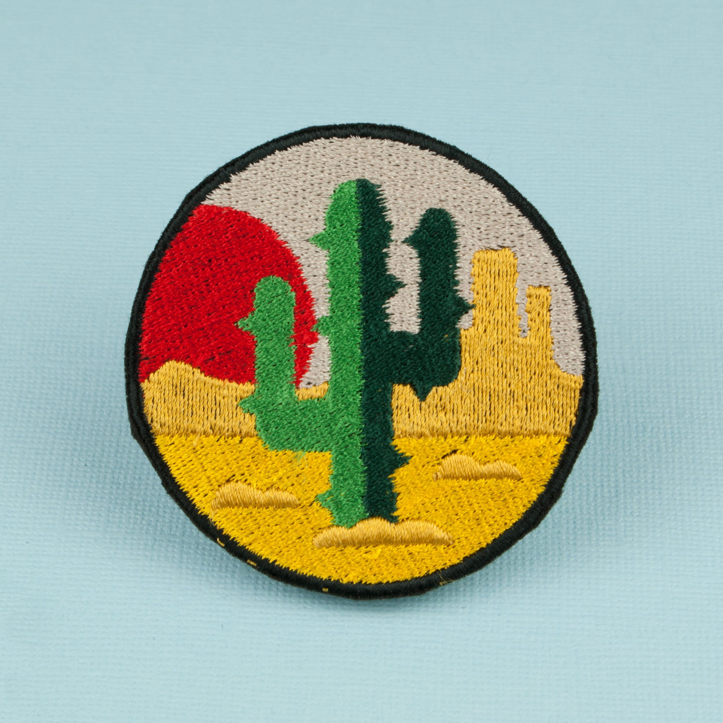 Lonely Cactus Iron on Patch Iron on patches, Embroidery