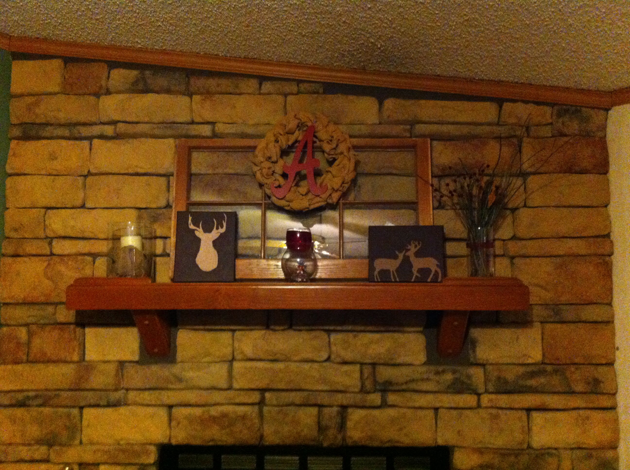 The fireplace mantle My house Pinterest Fireplace mantles and