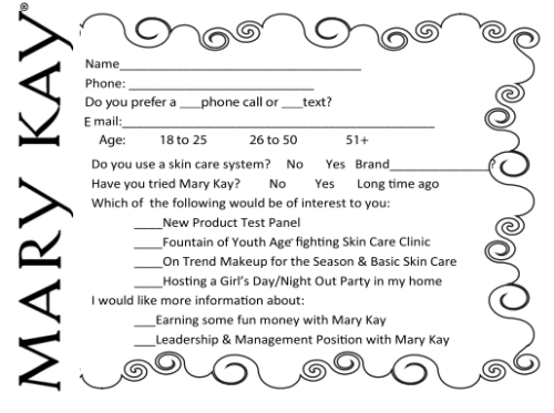 Get your Mary Kay gift certificates and other gifts today D – Mary Kay Party Invitation