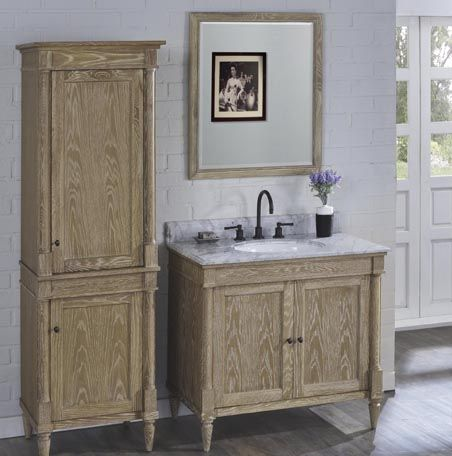 Image Result For Weathered Oak Bathroom Vanity Cabinet