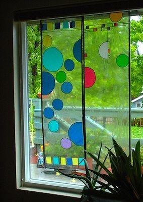 Frank Lloyd Wright Window Art Project