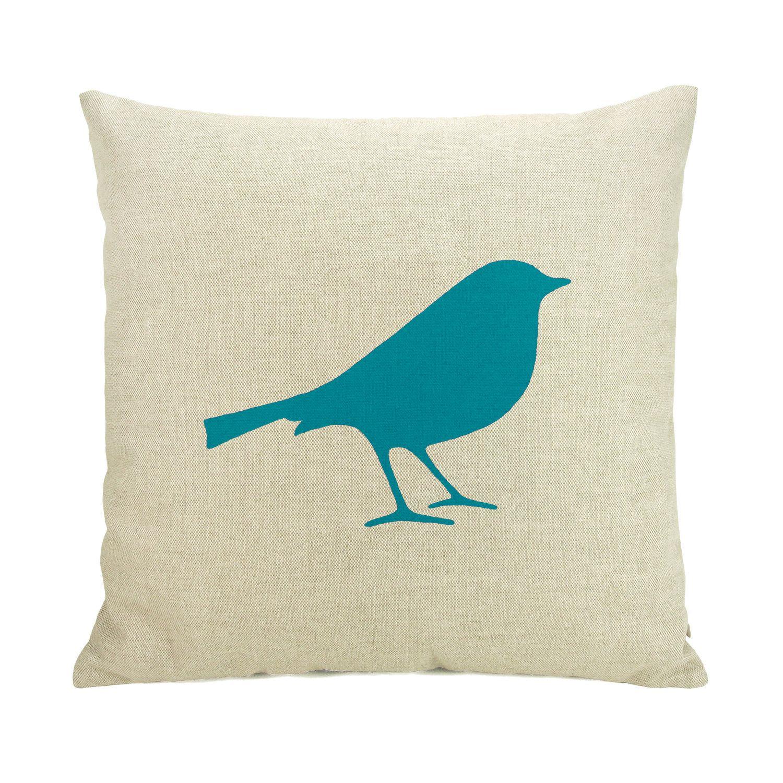 X or x decorative bird pillow case chevron cushion cover