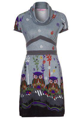 SHEBA - Strikket kjole - grå
