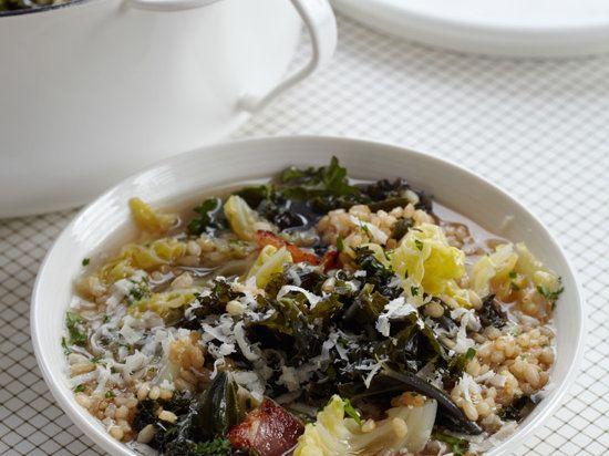 Cabbage-and-Kale Soup with Farro