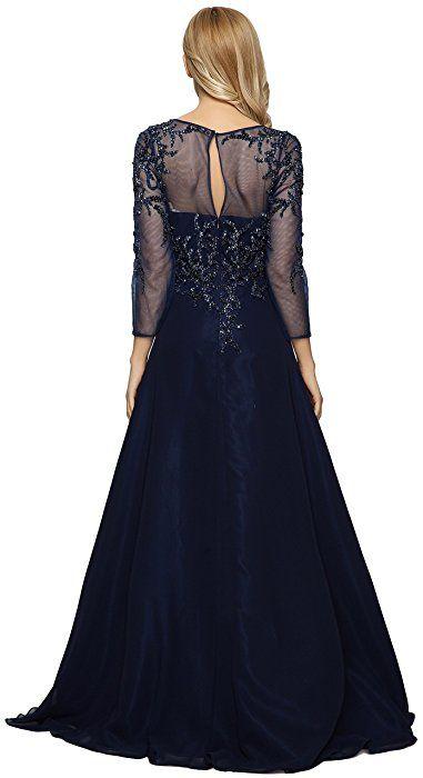 523b454dd2 Meier Women s Starlit Beaded long sleeve Mother of the Bride evening gown  size 18