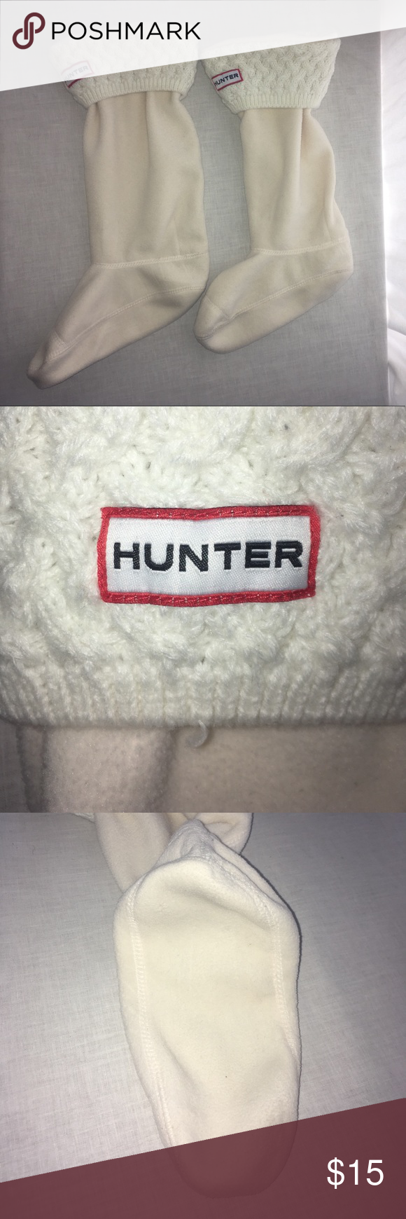 Hunter Fleece with Cable Knit Cuff Rain Boot Sock