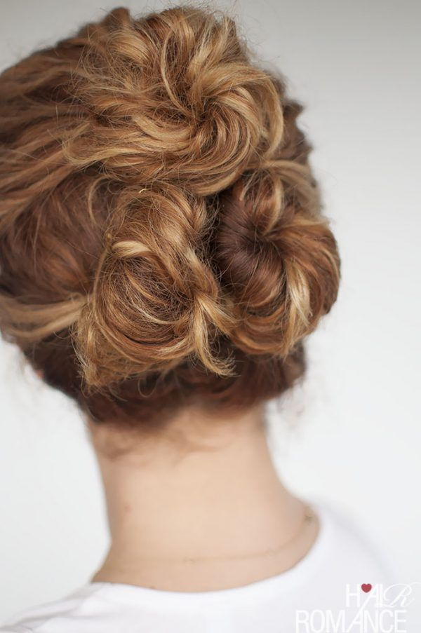Easy Everyday Curly Hairstyle Tutorials The Curly Triple Bun