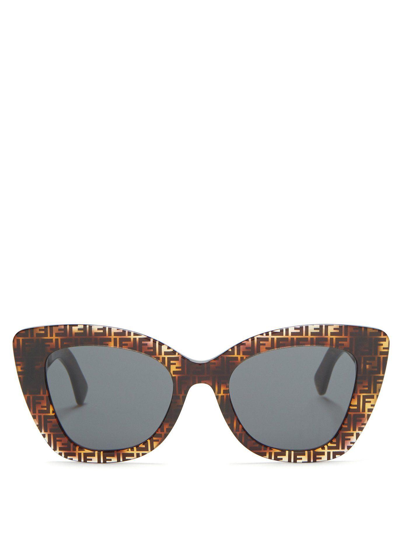 2469d5a4393e FENDI logo sunglasses FF x acetate cat-eye #outfits #style  #styleinspiration #