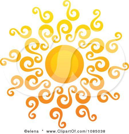 swirly sun tattoo