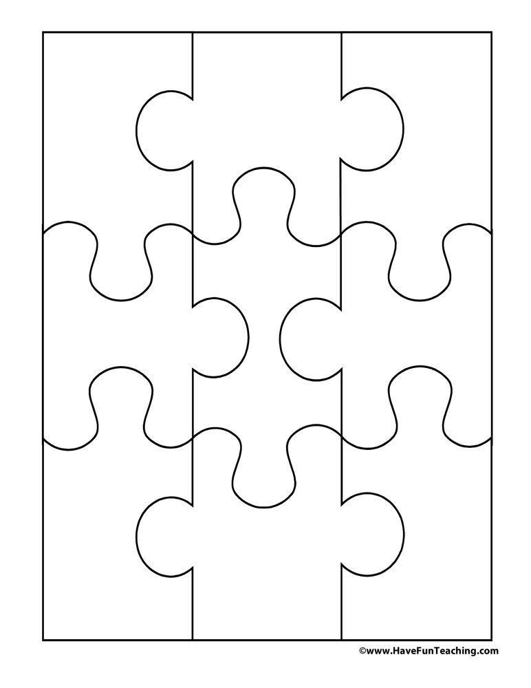 Create Your Own Puzzle 9 Piece Before You Cut Out This Color A Picture On It Then The Pieces And Put Back Together Again