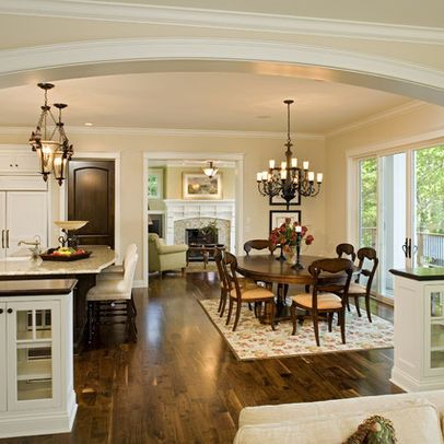 arch open floor plan design pictures remodel decor and ideas