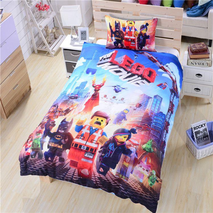 Lego Bedding Twin Full Queen Duvet Cover Set Lego Movie