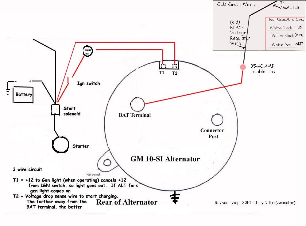 Gm 3 Wire Alternator Wiring, Chevrolet Alternator Wiring Diagram