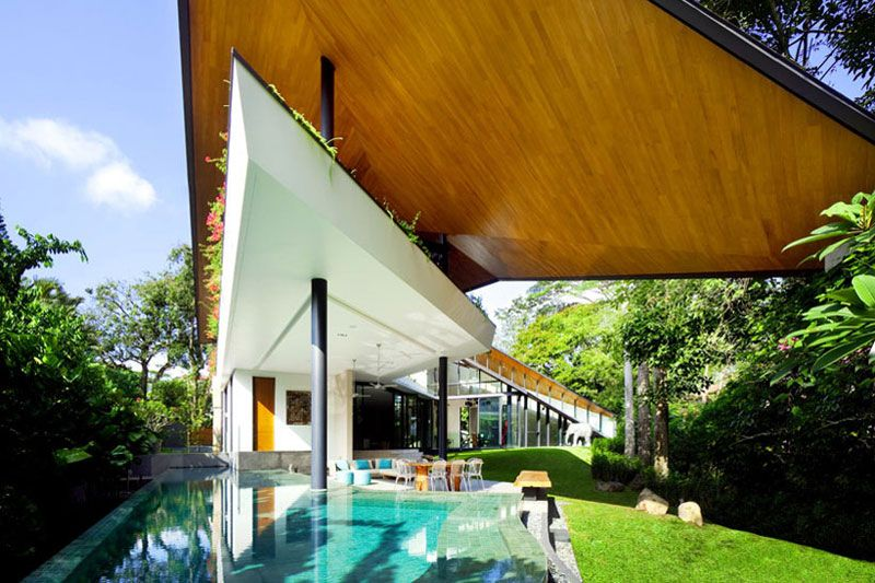 K2LD Winged House_extended roof/exposed programs