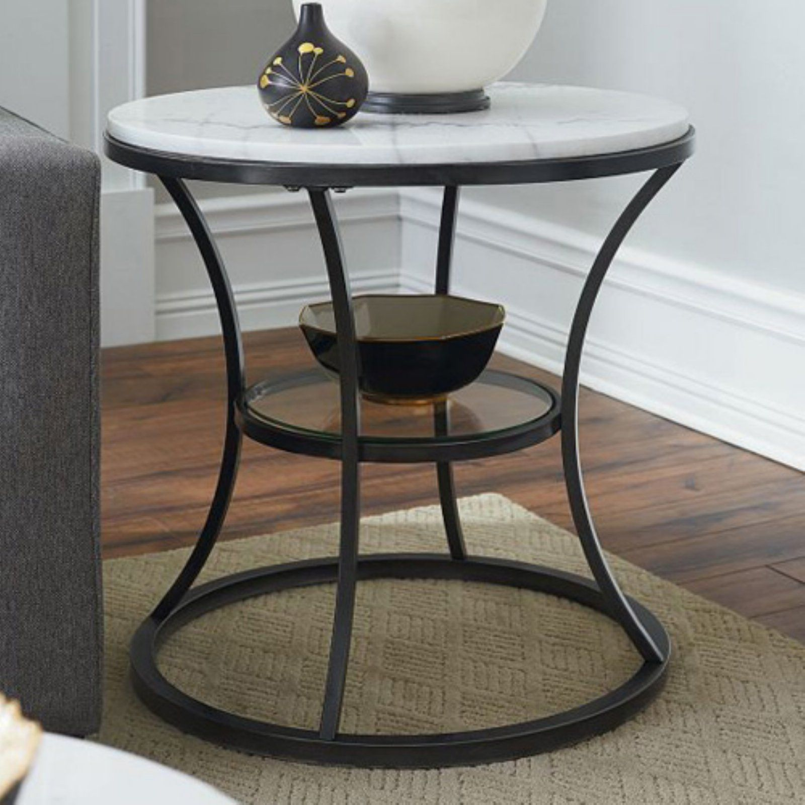 Hammary Furniture Co Impact Round End Table With Images End
