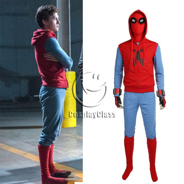 Spider Man Homecoming Cosplay Peter Benjamin Parker Costume Halloween Superhéros