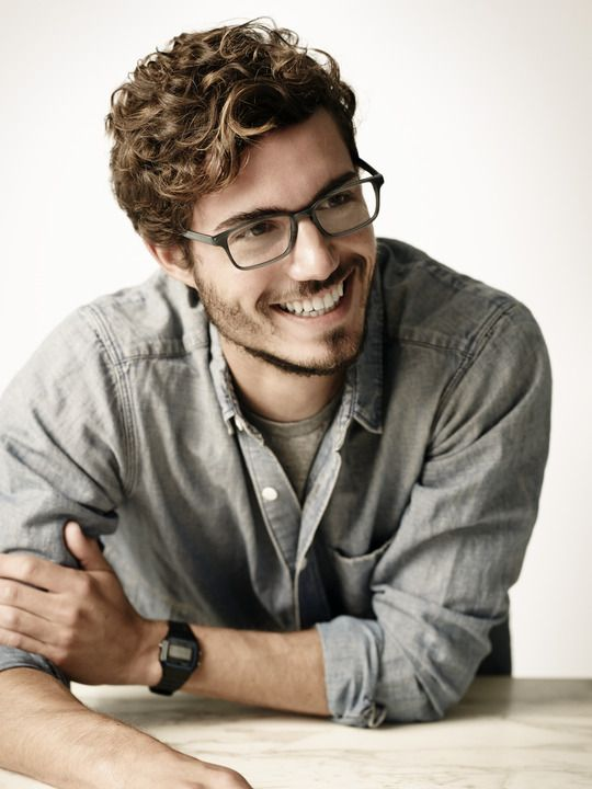 Curly Hair Men Short Curly Highlights Model David Kitz