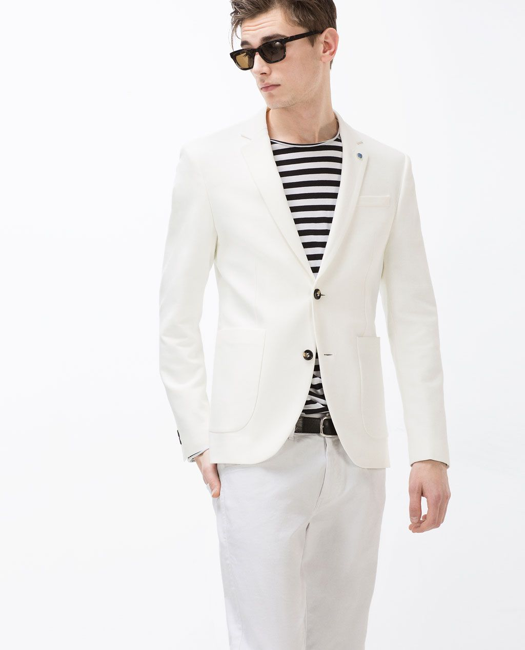 a7098713 WHITE BLAZER from Zara | Mens Fashion | Blazers for men, Blazer ...