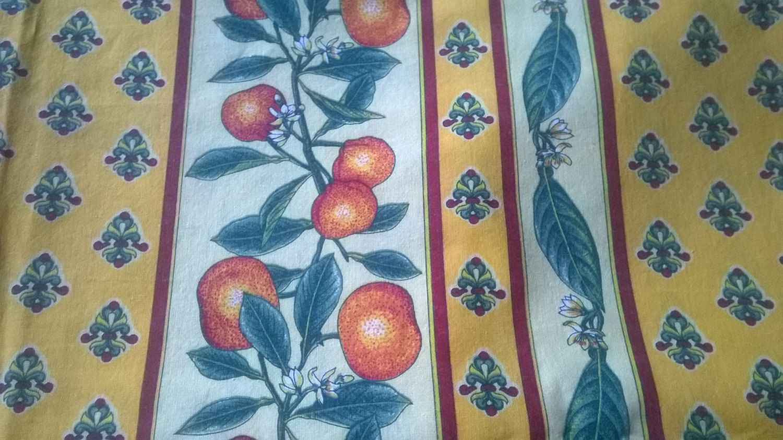 Yellow Provence Fabric 2 Yards + Vintage Home Decor Unused Cotton ...